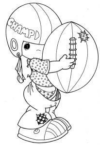 Breast Cancer Coloring Pages - Precious Moments Bring Ball Coloring for Kids 5r
