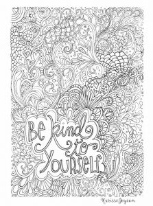 Breast Cancer Coloring Pages - Be Kind to Yourself Coloring Page Coloring Sheets Free Colouring Pages Quote Coloring 11a