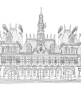 Calm the F Down Coloring Book Pages - Hotel De Ville Coloriage Adulte Anti Stress Paris Fashion Adult Coloring Coloring Pages to Print 16o