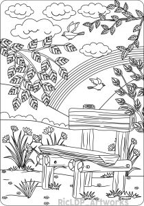 Calm the F Down Coloring Book Pages - the Bench Coloring Page for Adults 11t