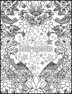 Calm the F Down Coloring Book Pages - Courageous Positive Word Coloring Book Printable Coloring 11j