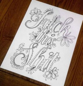 Calm the F Down Coloring Book Pages - I Ve Been Hearing About therapeutic Coloring Pages for Adults Maybe This One for Burpee Days 9f