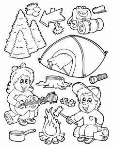 Camping Coloring Pages to Print - Printable Coloring Letters Lovely Camping Coloring Pages Free 7k