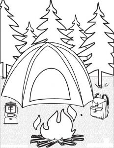 Camping Coloring Pages to Print - Camping Coloring Pages for Childrens Printable for Free Free Printable Coloring Pages for Kids Camping 13d