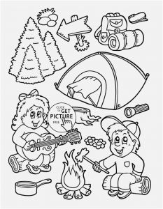 Camping Coloring Pages to Print - Free Colouring Pages for Preschoolers Printable Camping Summer Coloring Page Kids Seasons Printables 6k