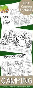 Camping Coloring Pages to Print - Camping Coloring Printables 2f