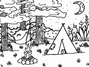 Camping Coloring Pages to Print - Camping Coloring Pages Printable 1000 Images About Summer Pdo On Pinterest 10g