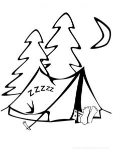 Camping Coloring Pages to Print - Tent Coloring Page Camping Coloring Pages Familyfuncoloring Hiking Camping Coloring 18r