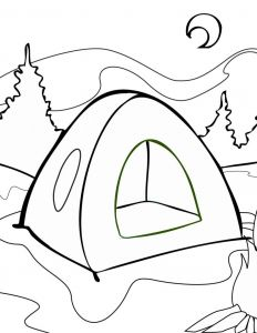 Camping Coloring Pages to Print - Camping Lantern Coloring Page 5b