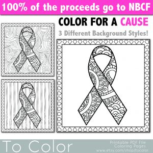 Cancer Awareness Coloring Pages - Breast Cancer Ribbon Coloring Page Acc 1348x1348 Ribbon Coloring Pages Printable 9p