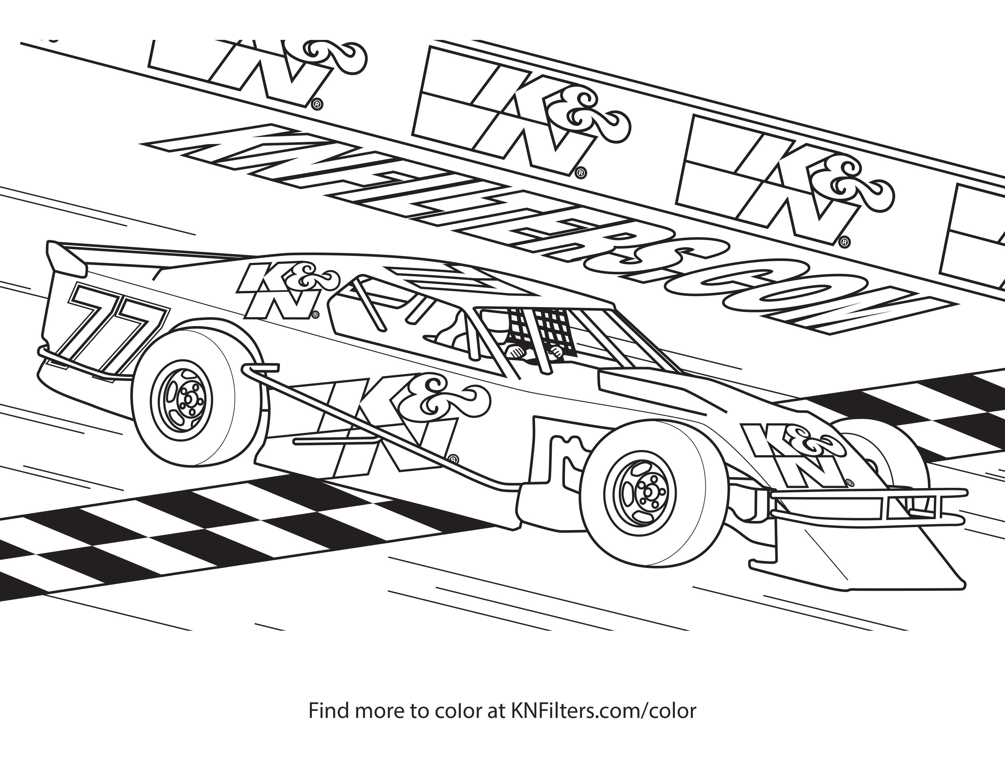car printable coloring pages Collection-Modified Race Car K&N Printable Coloring Page 2-i