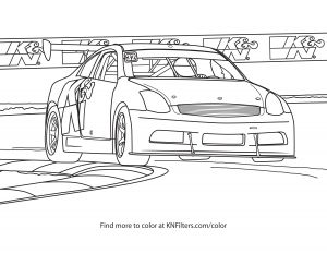 Car Printable Coloring Pages - Infiniti G35 K&n Printable Coloring Page 4d