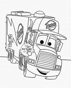 Cars Movie Coloring Pages - Coloring Pages Cars 3 Mack Coloring Pages 13n