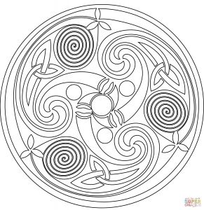 Celtic Mandalas Coloring Pages - Celtic Coloring Pages for Adults Celtic Mandala Coloring Pages 17o