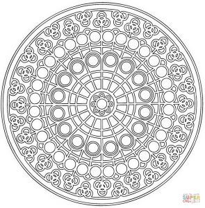 Celtic Mandalas Coloring Pages - the Celtic Mandala with Circle Pattern Coloring Pages 16e