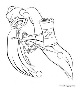 Child Coloring Pages Online - Harley Quinn Kids Line Harley and Coloring Page 6f