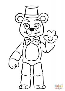 Child Coloring Pages Online - Fnaf Coloring Pages Online 14 T Fnaf Golden Freddy Coloring Page 6c