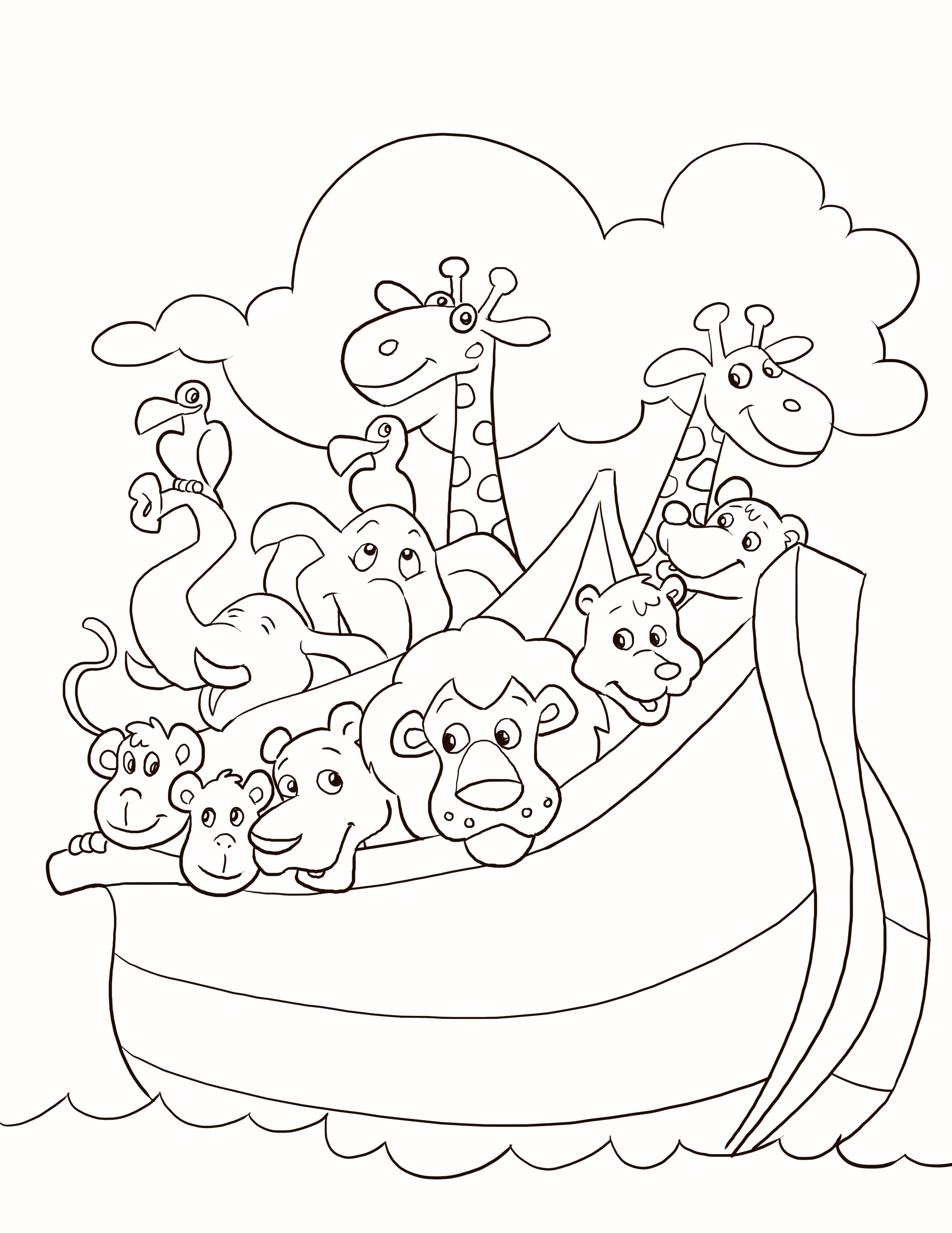 20 Children's Sunday School Coloring Pages Collection - Coloring Sheets