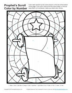 Childrens Bible Coloring Pages - Bible Scroll Coloring Page with Pages for Kids Prophets told About God S son 18h