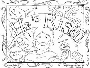 Christian Coloring Pages Printable Free - Jesus is Risen Coloring Page Whats In the Bible Adorable He Ruva 15b