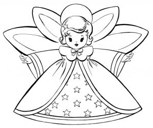 Christmas Angel Coloring Pages - Free Christmas Coloring Pages Good for Thank You Cards 3d