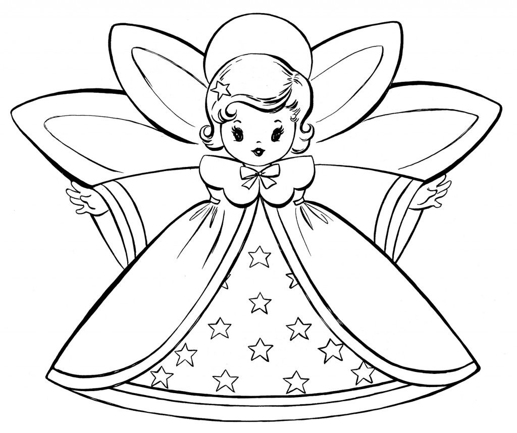 christmas angel coloring pages Collection-Free Christmas Coloring Pages good for thank you cards 3-l