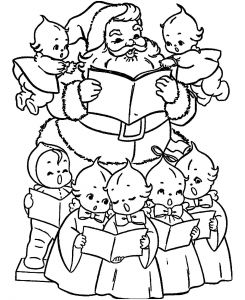 Christmas Angel Coloring Pages - Christmas Angel Coloring Pages and Print Santa and Cute Angels Leaf Coloring Pages 12l