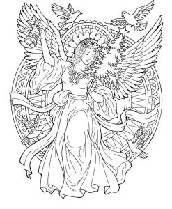 Christmas Angel Coloring Pages - Christmas Angel Coloring Page 19a