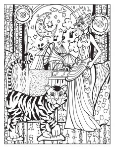 Circus Coloring Pages - A Day at the Circus Coloring Page On Behance 3p