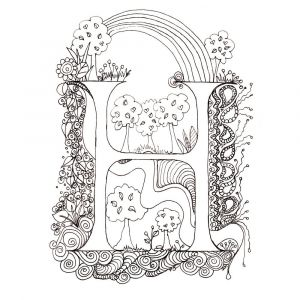 Color by Letters Coloring Pages - Outstanding Me Val Illuminated Letters Coloring Pages Cool Alphabet 4h