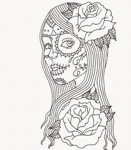 Colorama Coloring Pages to Print - Skull Coloring Pages Dia De Los Muertos Skull Coloring Pages Printable 12d
