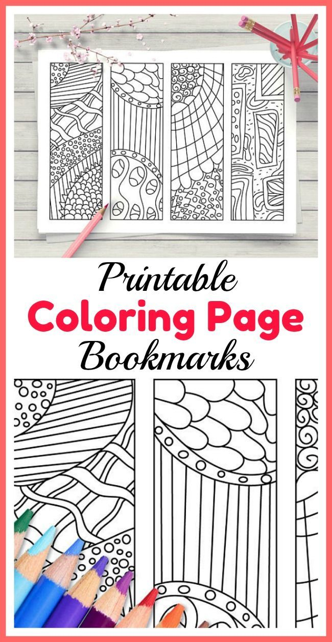coloring pages bookmarks Download-Printable Zendoodle Coloring Page Bookmarks 4 zen doodle style abstract art DIY bookmarks to color These abstract designs make a great coloring activity 19-r