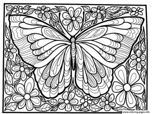 Coloring Pages butterfly - Adult Difficult Big butterfly Coloring Pages Printable Inside 13t