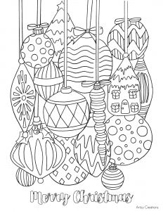 Coloring Pages Christmas ornaments - Free Christmas ornament Coloring Page T This Grandma is Fun 2h