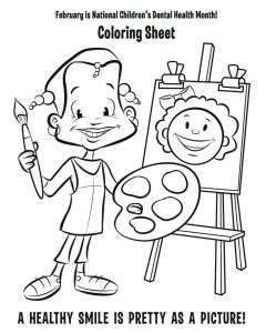 Coloring Pages Dental Health Month - Dental Health Month Coloring Pages 20g