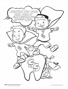 Coloring Pages Dental Health Month - Fight for Good oral Health Coloring Page 17s