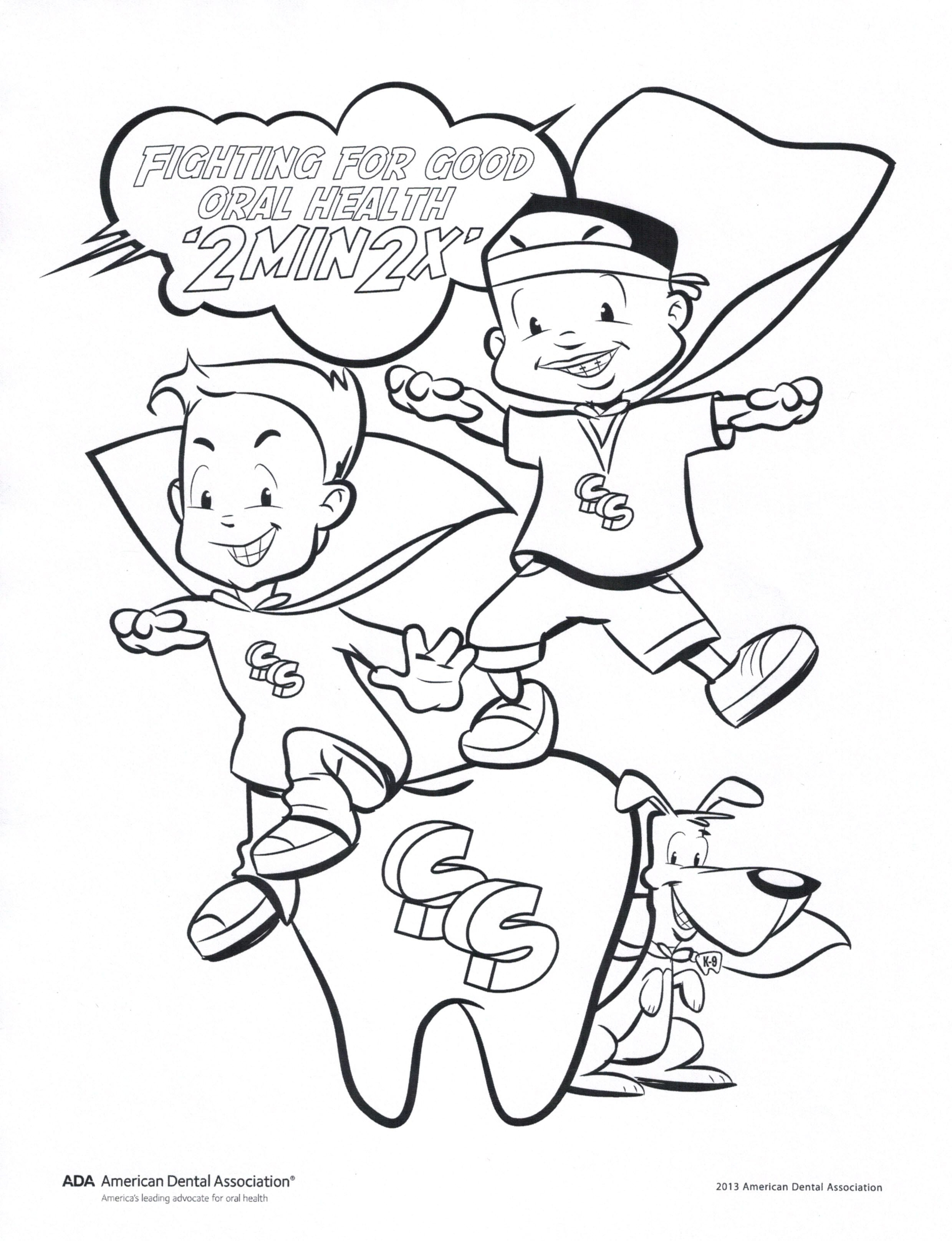 coloring pages dental health month Download-Fight For Good Oral Health Coloring Page 4-s