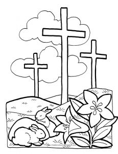 Coloring Pages Easter Religious - Religious Coloring Pages Inspirationa Easter Bible Coloring Pages Jesus Appears to Mary Magdalene Church 1c