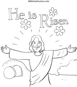 Coloring Pages Easter Religious - Eastercoloring with He is Risen Coloring Page 15e