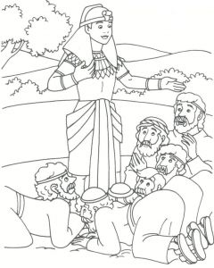 Coloring Pages for Bible Lessons - Joseph S Brothers Bowing to Him Genesis 42 45 Preschool Bible Bible School 1e