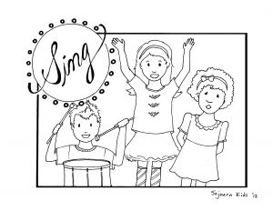 Coloring Pages for Children Church - Cool Free Coloring Pages Children Singing In Church 12p