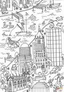 Coloring Pages for Church - Street Fighter Coloring Pages Trinity Church and Wall Street Building Coloring Page 7q