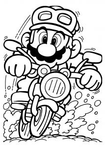 Coloring Pages Mario - Mario Coloring Sheet Mario On Motorcycle Coloring Pages for Kids Printable Free 11l