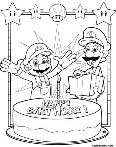 Coloring Pages Mario - Mario Coloring Page Unique Printable Coloring Pages Mario and Luigi Happy Birthday 2k