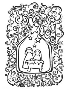 Coloring Pages Nativity - Christmas Coloring Pages Nativity Free Printable 19c