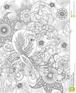 Coloring Pages Of Birds and Flowers - Bird Coloring Page 17b