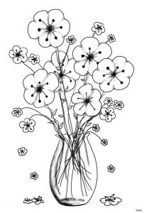 Coloring Pages Of Birds and Flowers - Download Image 1p