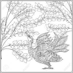 Coloring Pages Of Birds and Flowers - Decorative Flowers and Bird Coloring Book for Adult and Older Children Coloring Page 14c