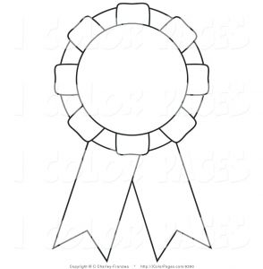 Coloring Pages Of Cancer Ribbons - Place Winner Ribbon Gold Seal Award Ribbons Clipart Excellent Award 4p
