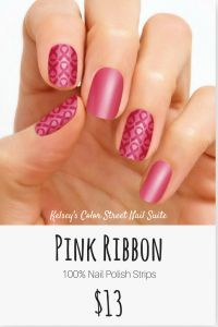 Coloring Pages Of Cancer Ribbons - Color Street Pink Ribbon Show Your Support with This Breast Cancer Awareness Nail Art Apply Dry for A Fast and Easy Manicure for Purchase Options 18t